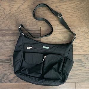 Baggallini Black Fabric Crossbody Bag Purse
